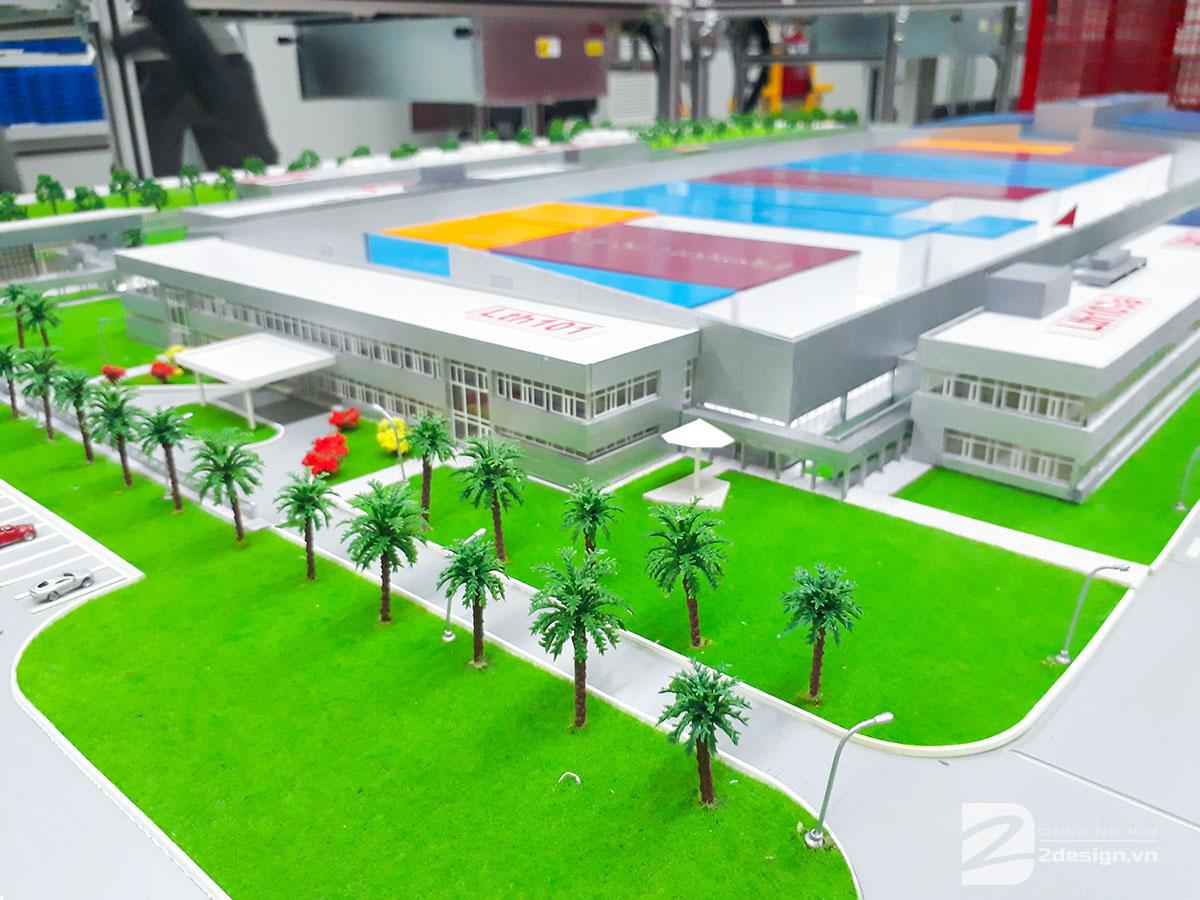 mô hình kiến trúc nhà máy bosch