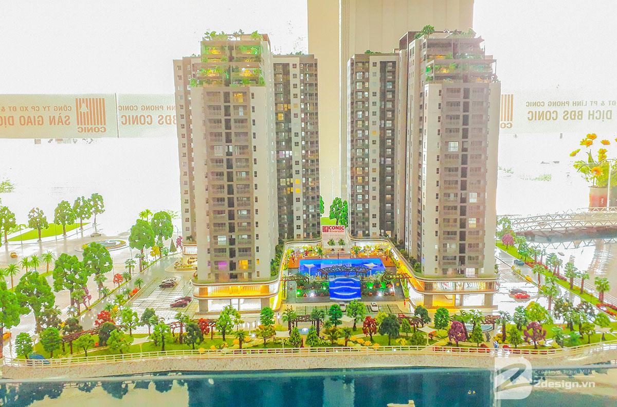 làm mô hình kiến trúc sa bàn Conic Riverside 3