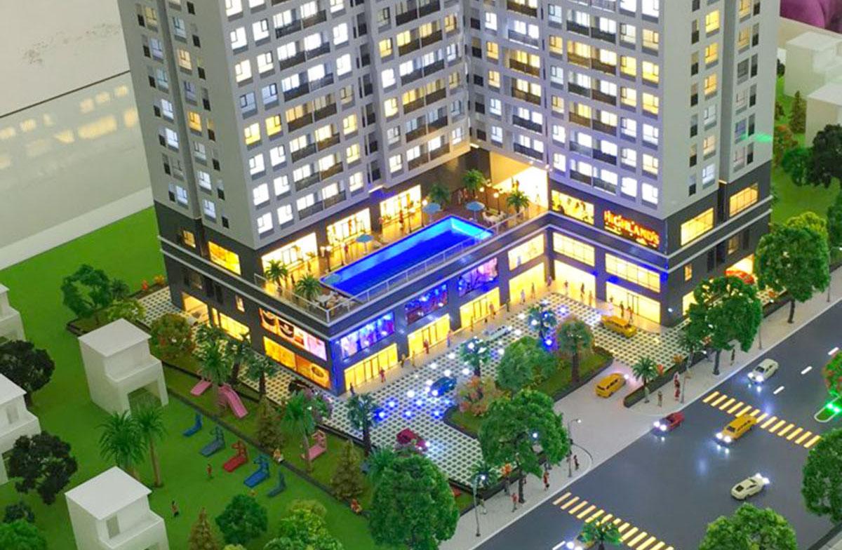 mô hình kiến trúc sa bàn GoldDora Plaza 3