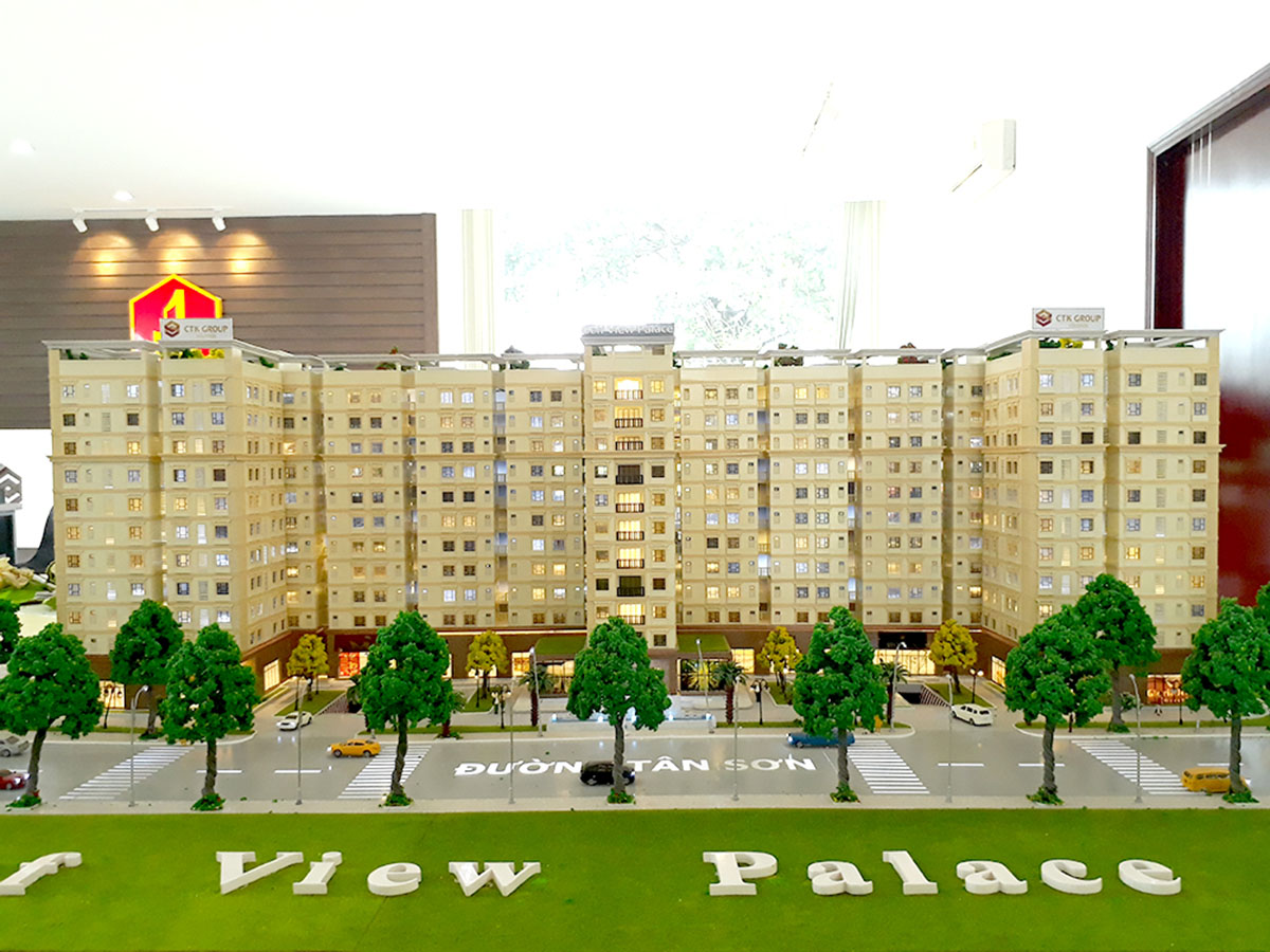 làm mô hình kiến trúc sa bàn golf view palace 3