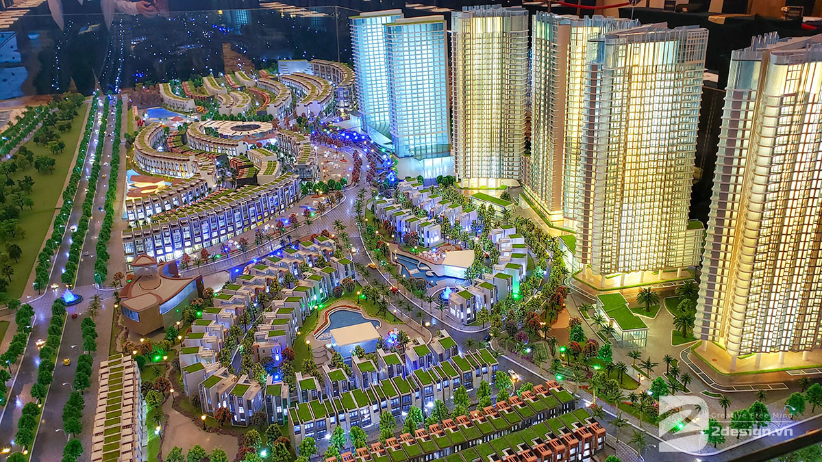 làm mô hình kiến trúc sa bàn Mũi Né Summerland Resort 8