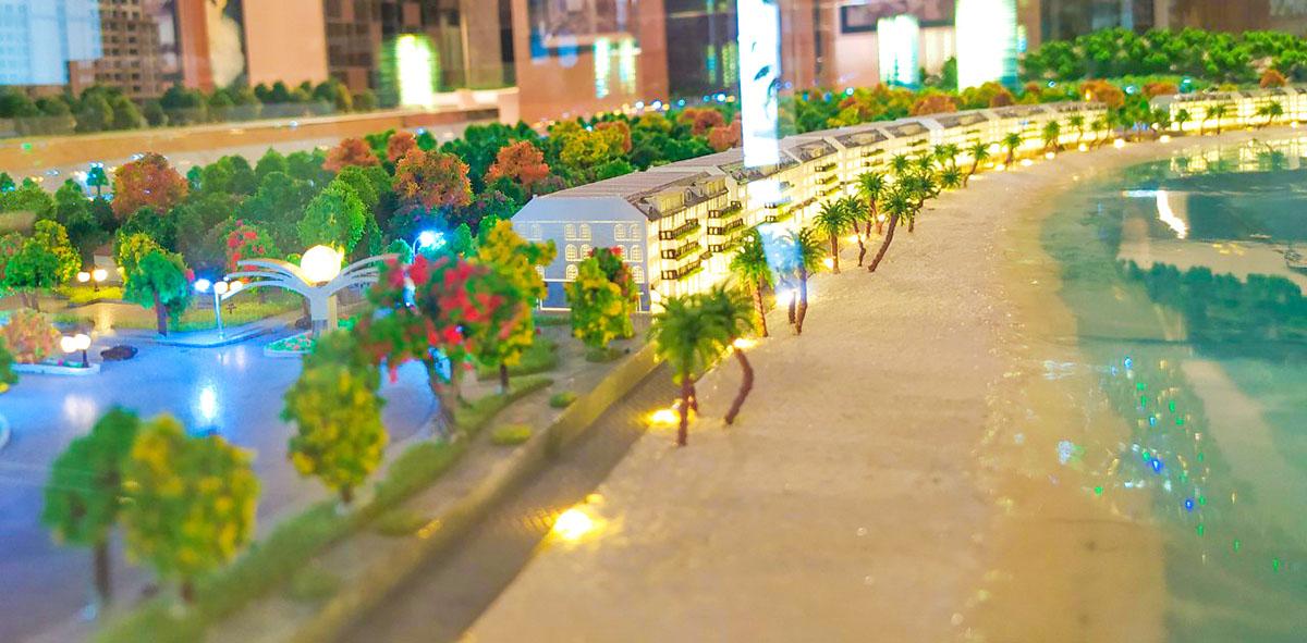 mô hình kiến trúc Nam Ô Resort 10