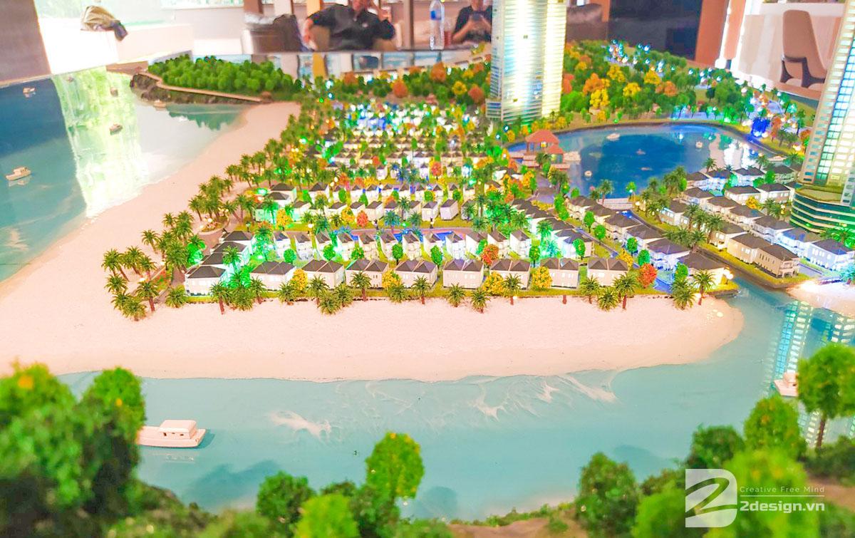 mô hình kiến trúc Nam Ô Resort 2
