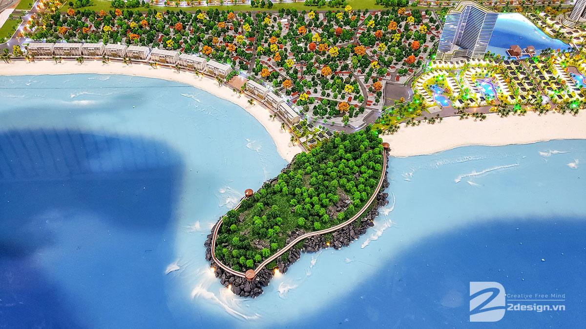 mô hình kiến trúc Nam Ô Resort 6