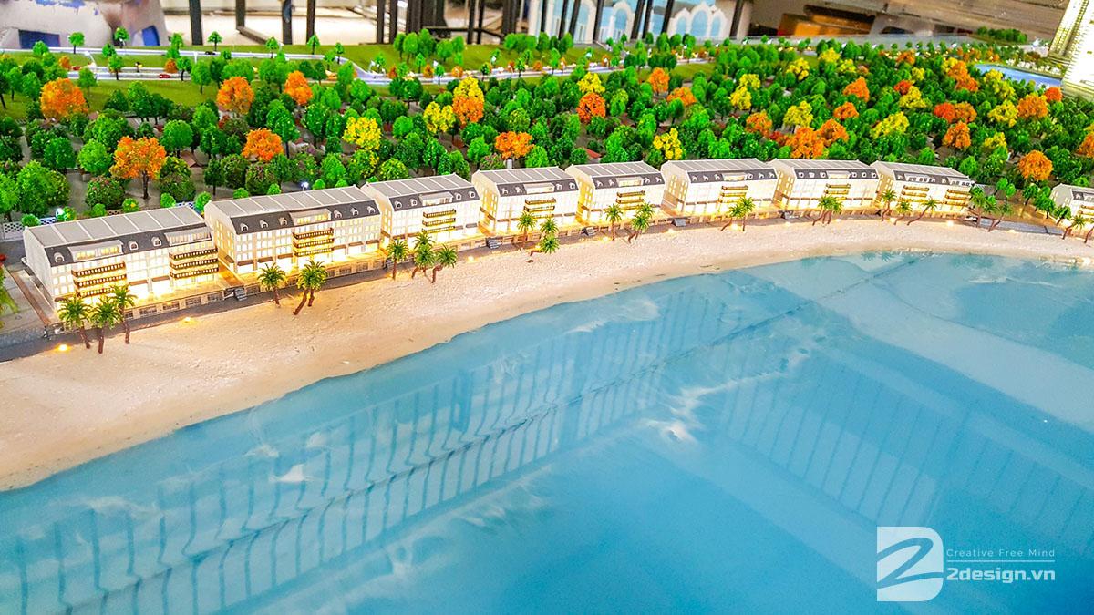 mô hình kiến trúc Nam Ô Resort 9