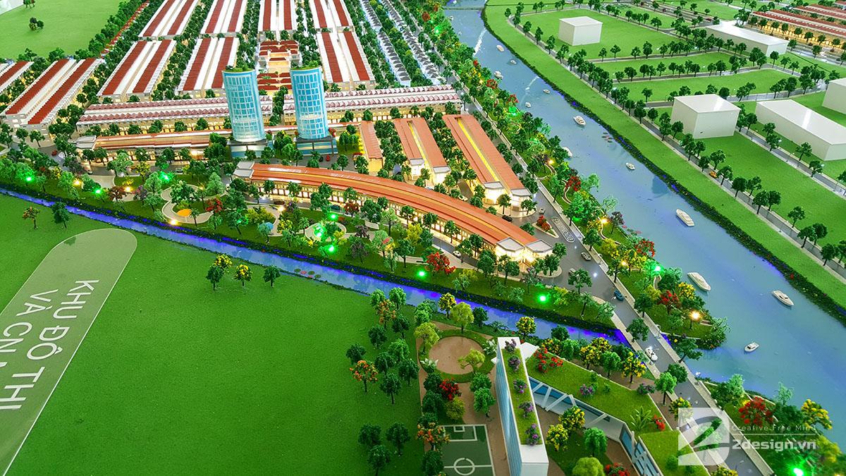 mô hình kiến trúc khu đô thị ngũ tượng khải hoàn 2
