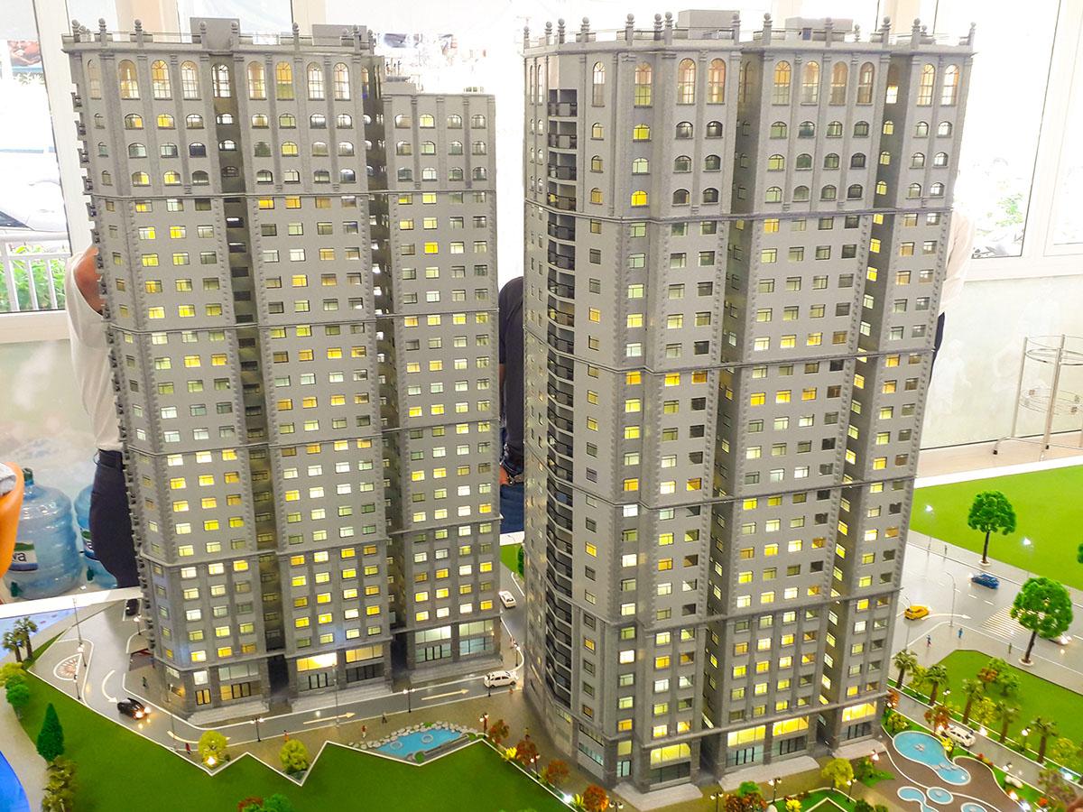 mô hình kiến trúc sa bàn Paris Hoàng Kim 1