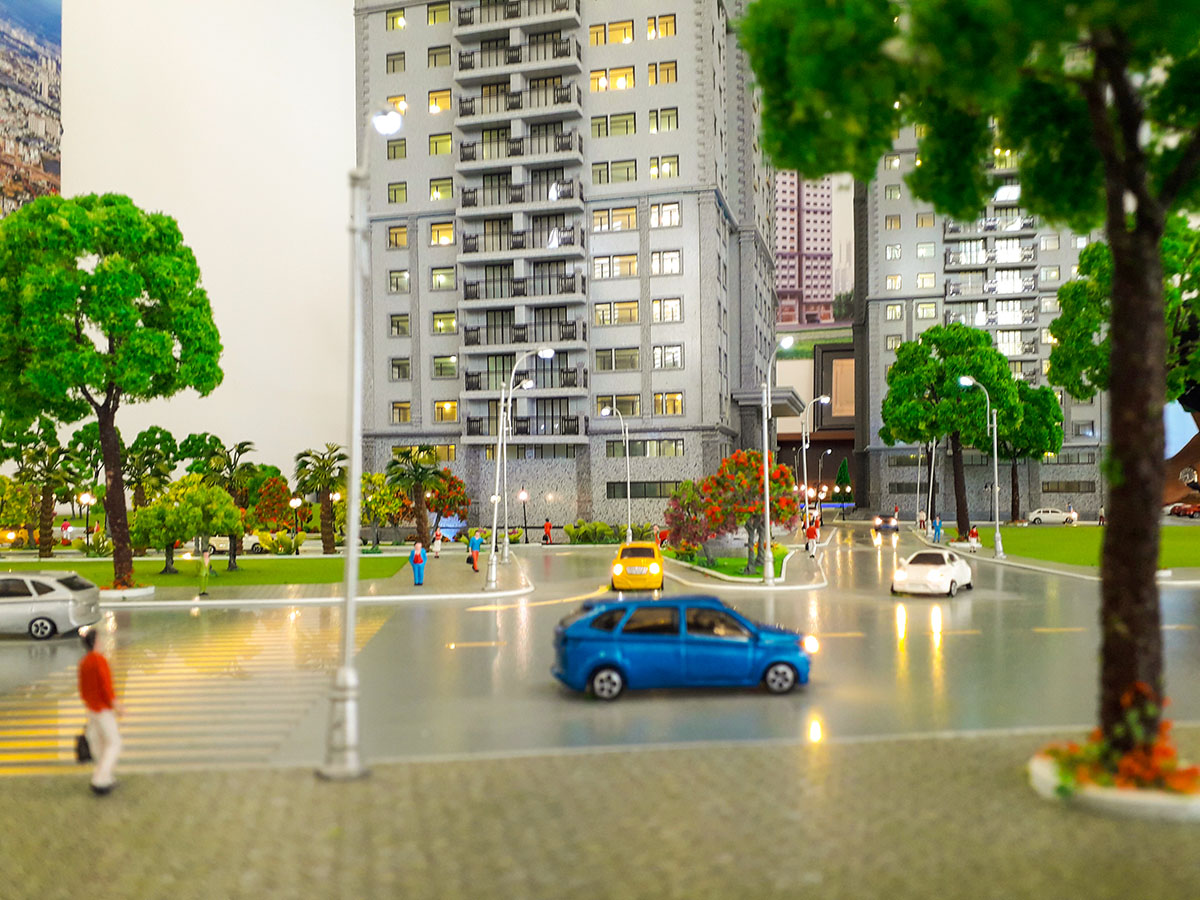 mô hình kiến trúc sa bàn Paris Hoàng Kim 10