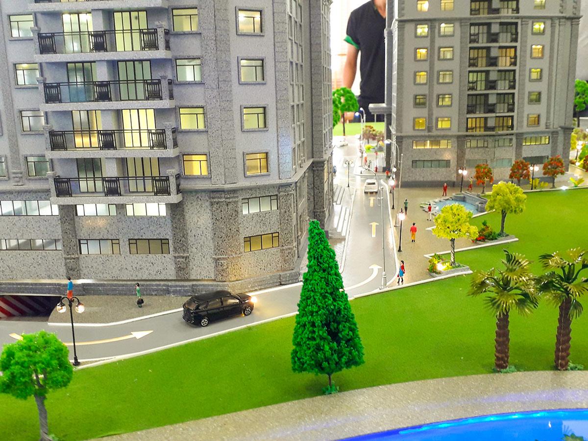 mô hình kiến trúc sa bàn Paris Hoàng Kim 3