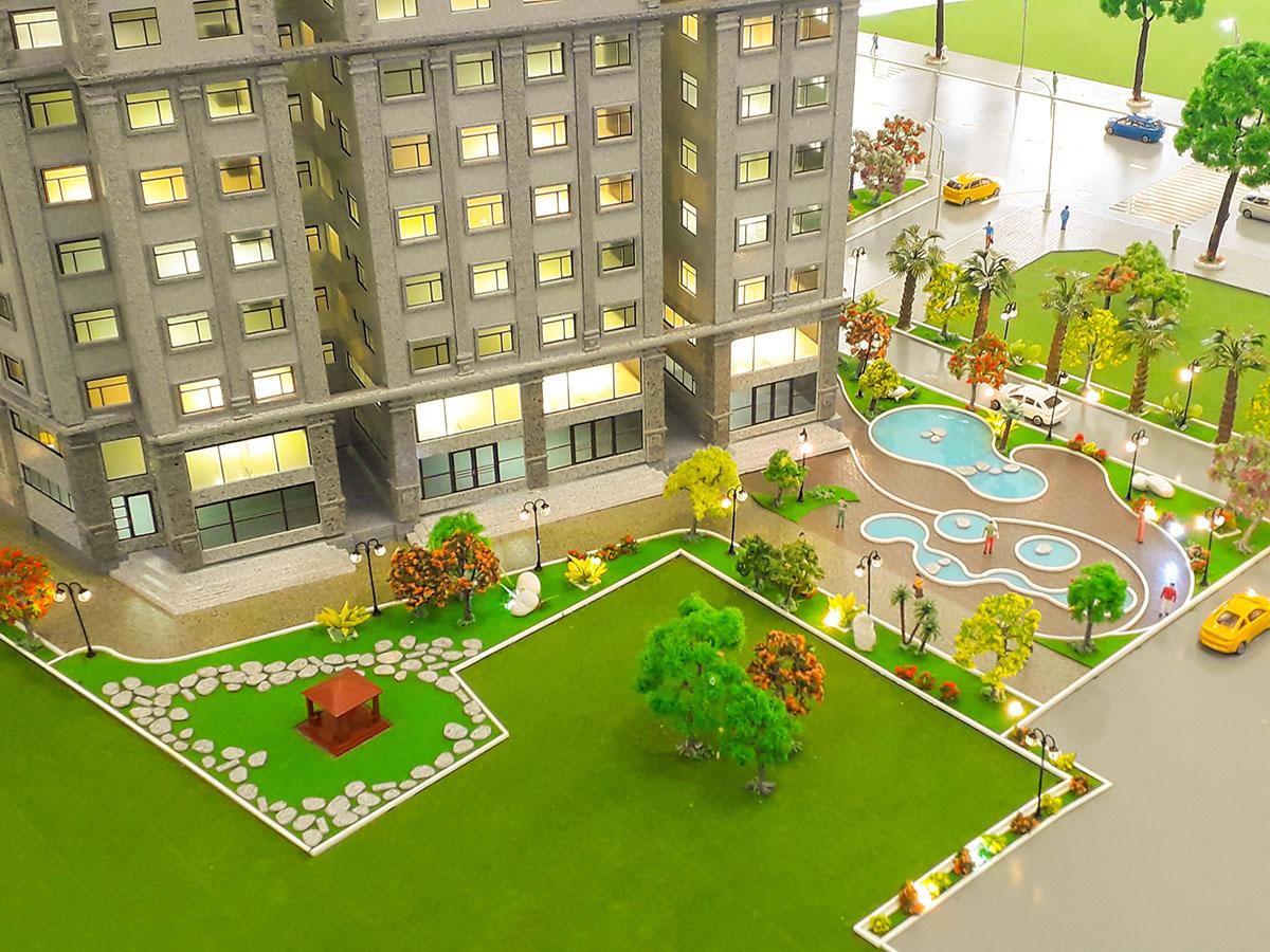 mô hình kiến trúc sa bàn Paris Hoàng Kim 5