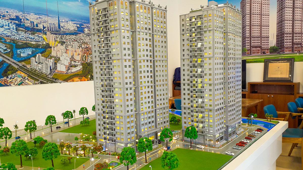 mô hình kiến trúc sa bàn Paris Hoàng Kim 7