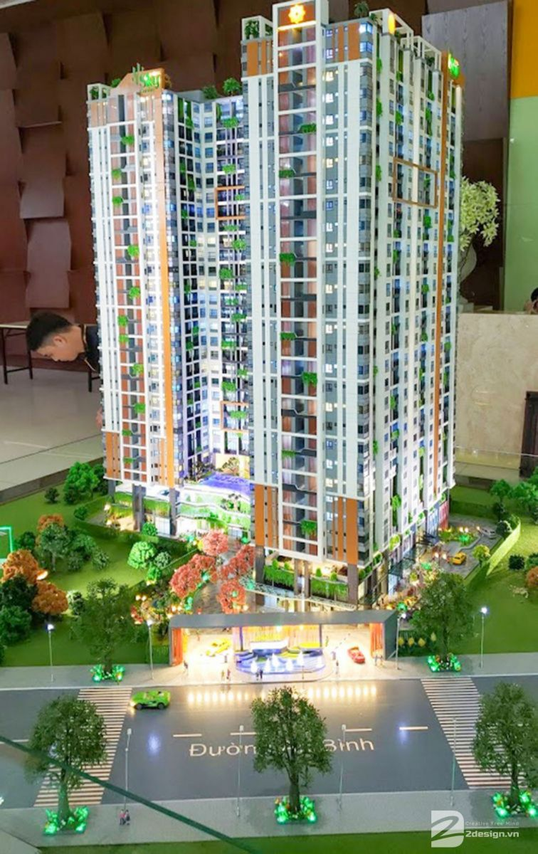 làm mô hình kiến trúc sa bàn Phúc Đông Sky Garden 1