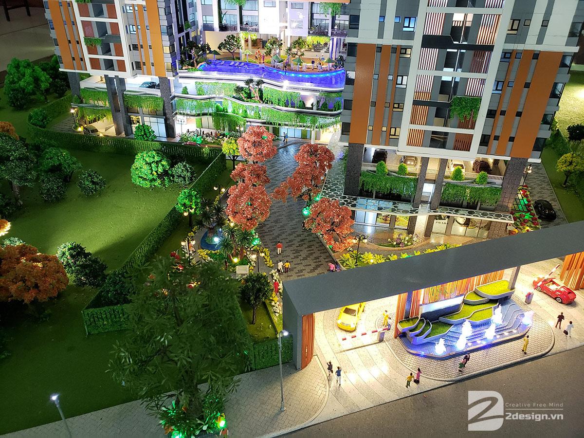 làm mô hình kiến trúc sa bàn Phúc Đông Sky Garden 5