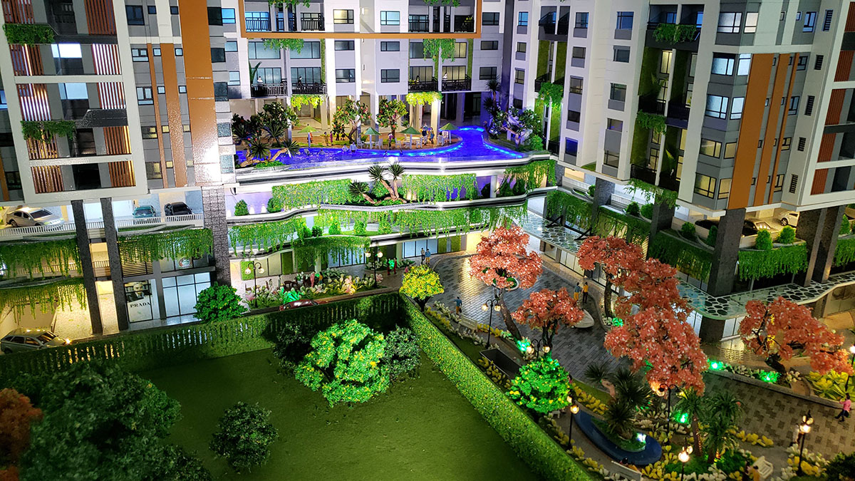 làm mô hình kiến trúc sa bàn Phúc Đông Sky Garden 6