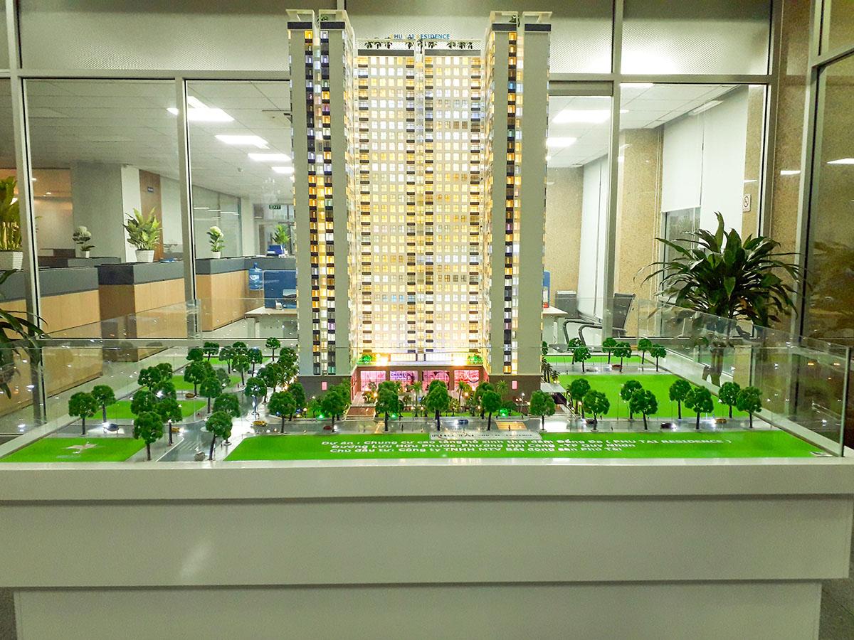 làm mô hình kiến trúc sa bàn phú tài residence 1