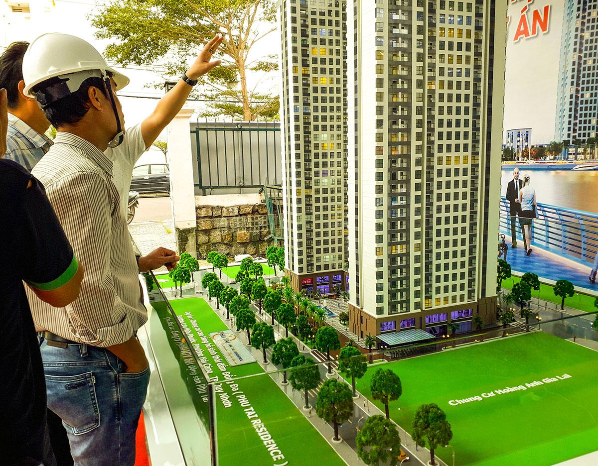 làm mô hình kiến trúc sa bàn phú tài residence 19