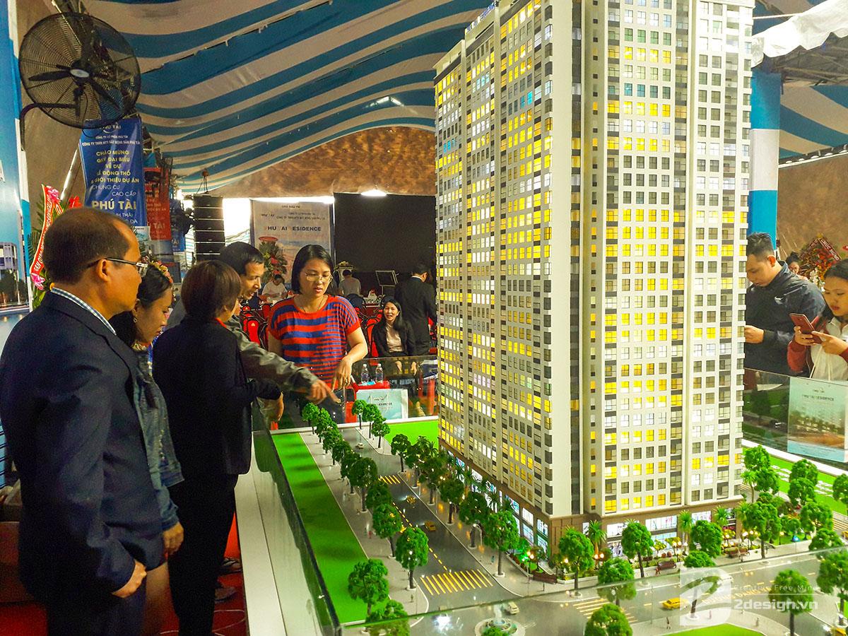 làm mô hình kiến trúc sa bàn phú tài residence 20