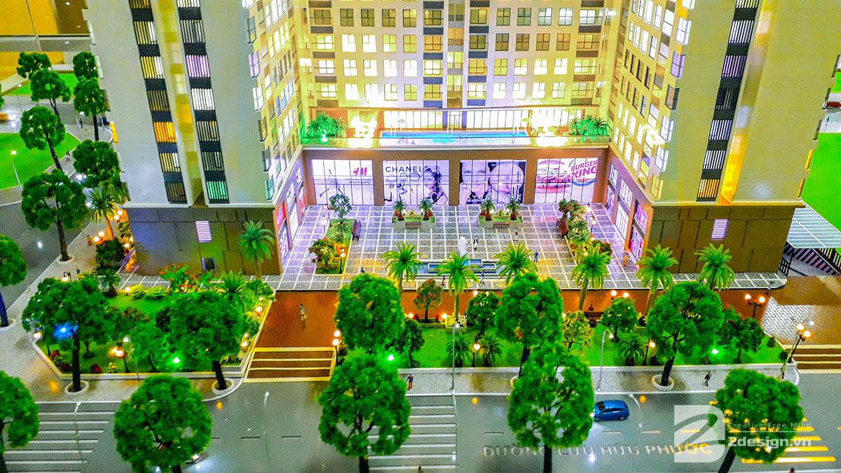 làm mô hình kiến trúc sa bàn phú tài residence 3