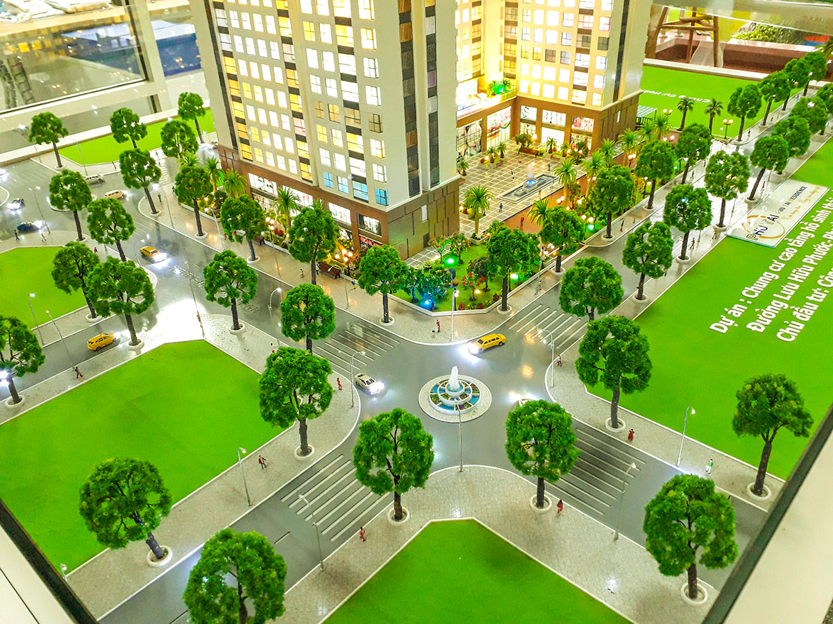 làm mô hình kiến trúc sa bàn phú tài residence 4