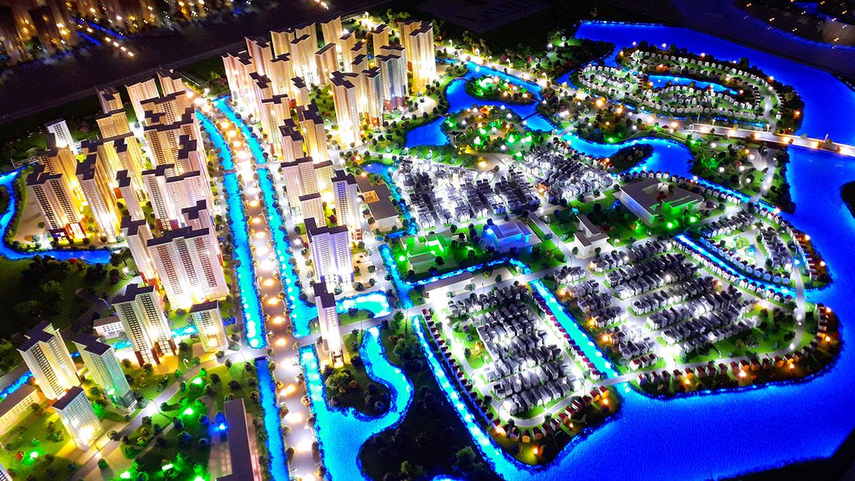 làm mô hình kiến trúc sa bàn vinhomes grand park 1