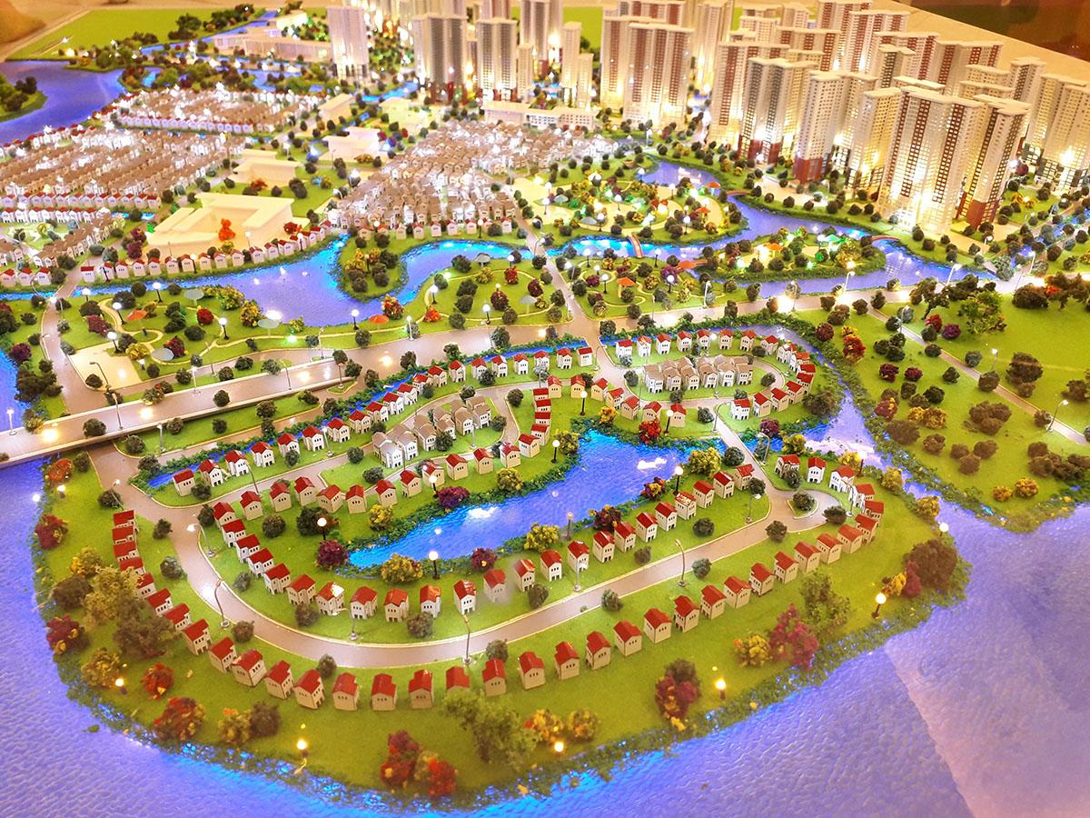 làm mô hình kiến trúc sa bàn vinhomes grand park 3