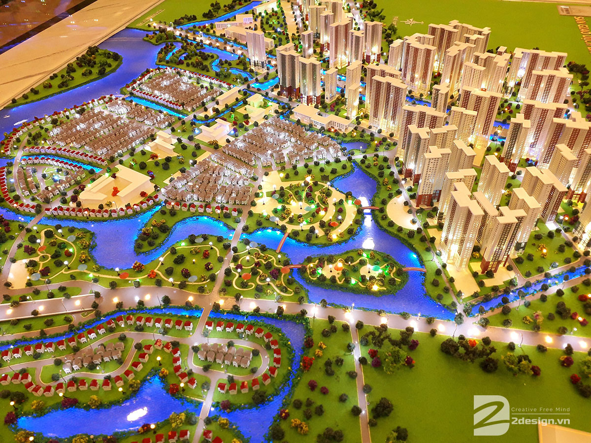 làm mô hình kiến trúc sa bàn vinhomes grand park 5