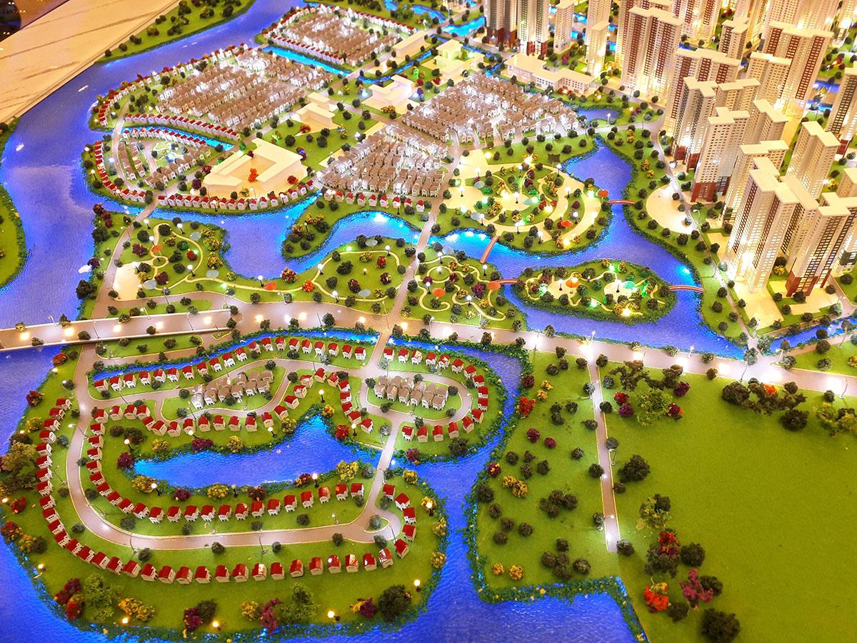 làm mô hình kiến trúc sa bàn vinhomes grand park 6