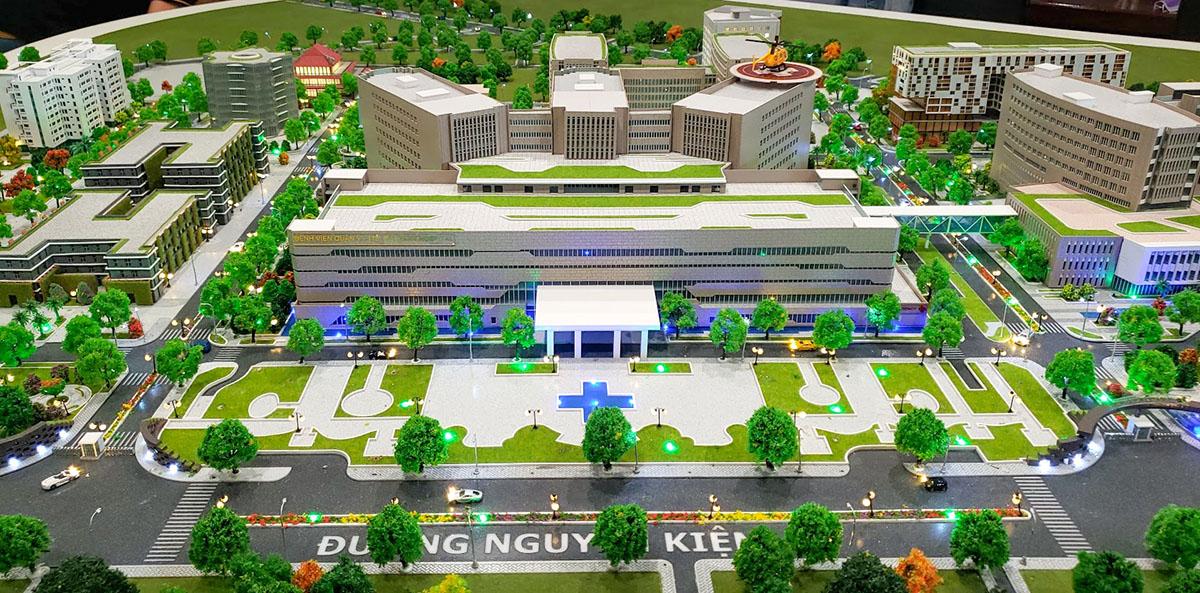 làm mô hình kiến trúc sa bàn bệnh viện quân y 175 3
