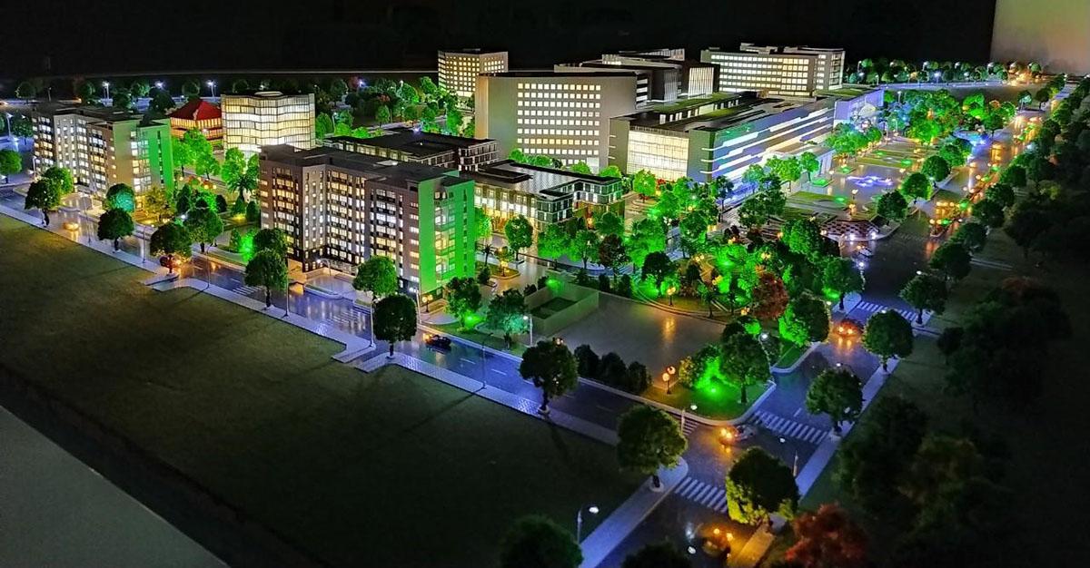 làm mô hình kiến trúc sa bàn bệnh viện quân y 175 7