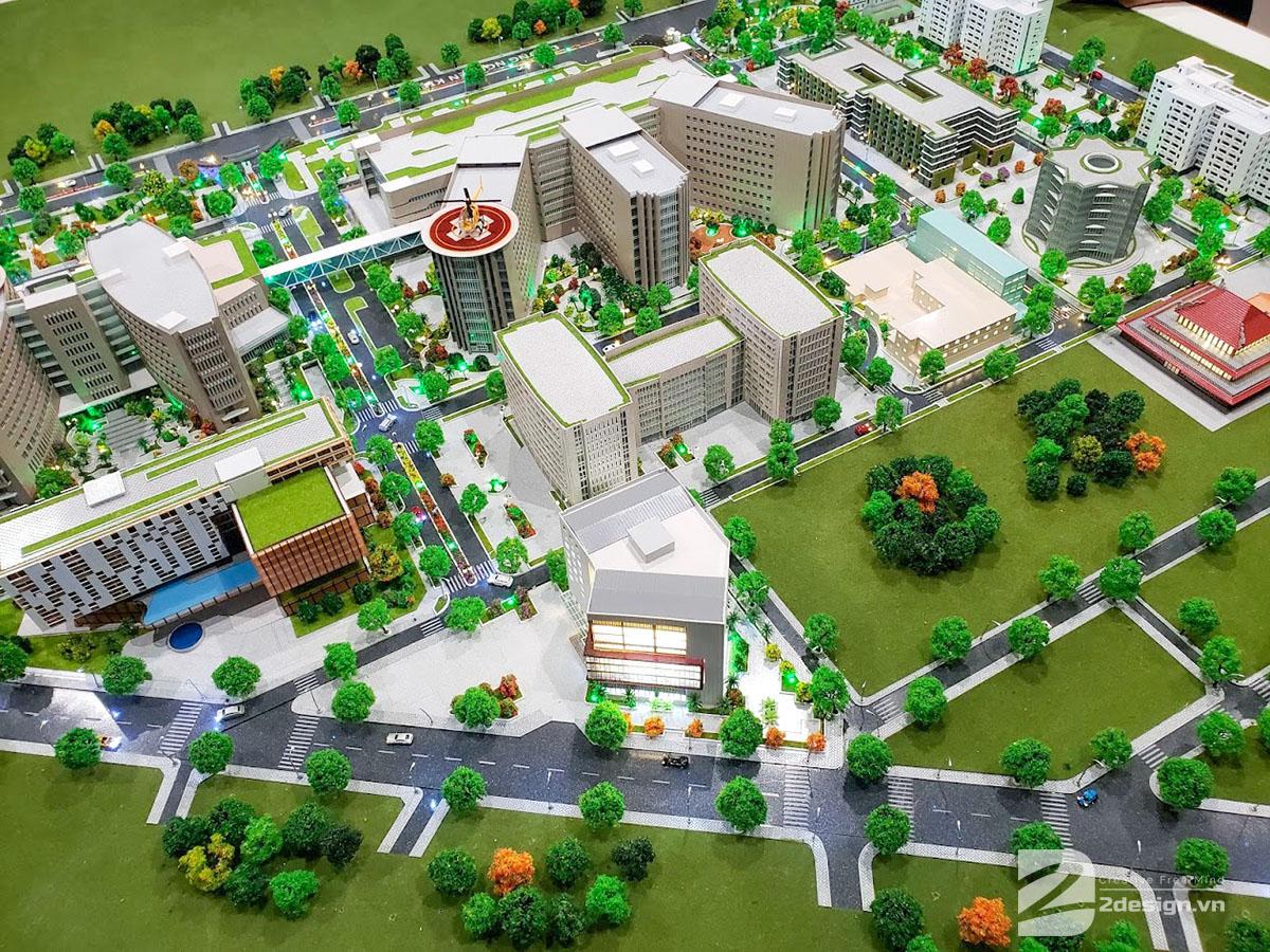làm mô hình kiến trúc sa bàn bệnh viện quân y 175 2