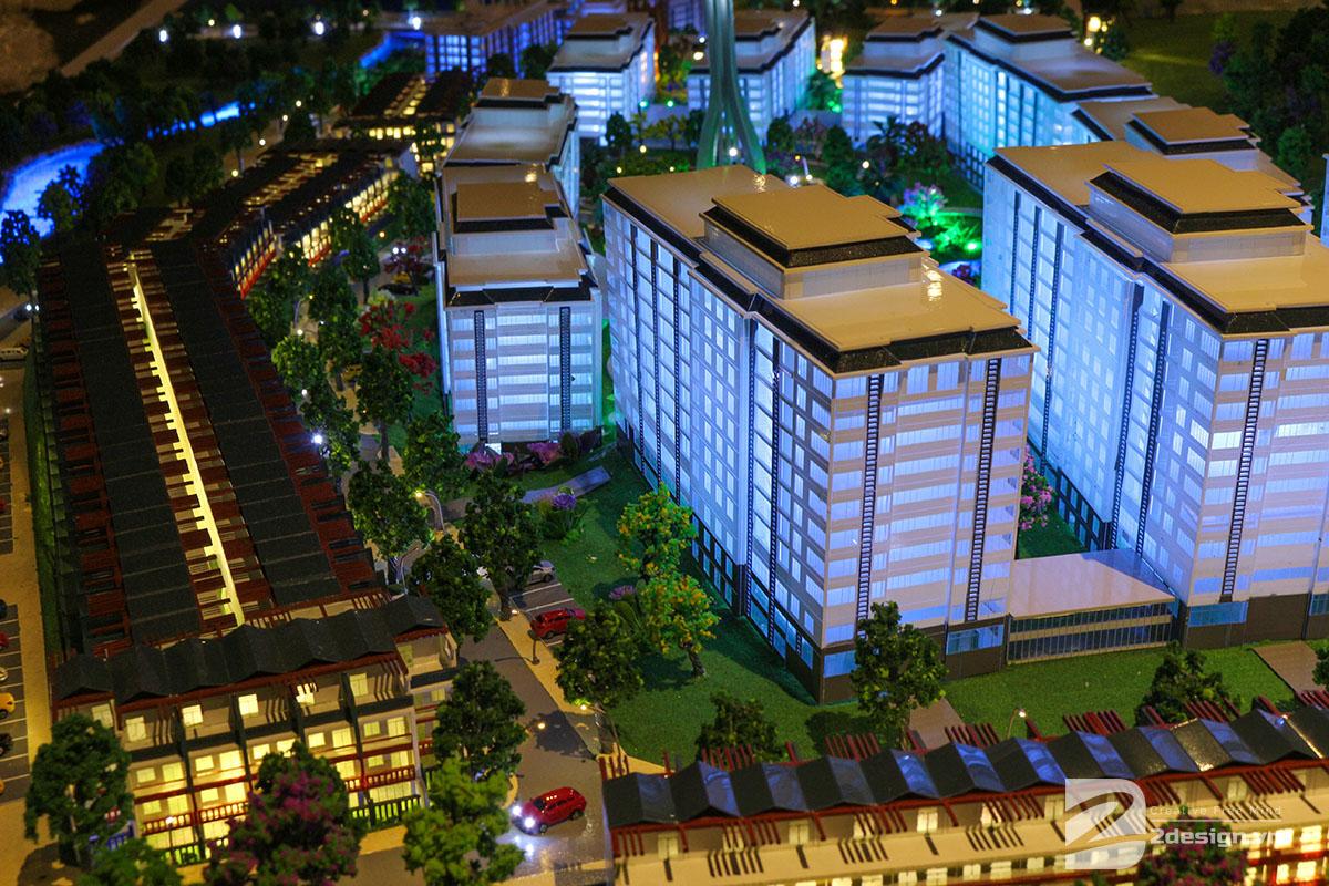 mô hình kiến trúc Aloha Beach Village 2