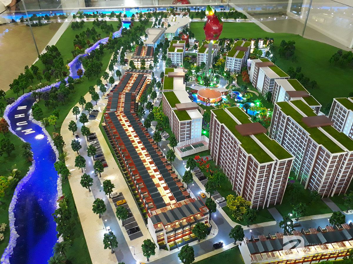 mô hình kiến trúc Aloha Beach Village 3